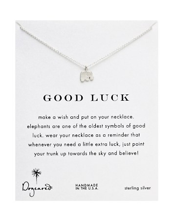 Dogeared Jewelry Sterling Silver Good Luck Elephant Reminder Necklace