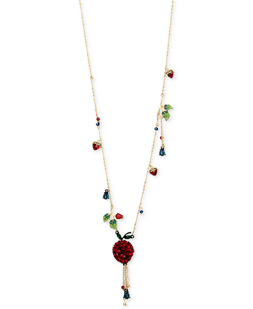 Betsey Johnson - - Betsey Johnson Jewelry GARDEN OF EXCESS Apple ...