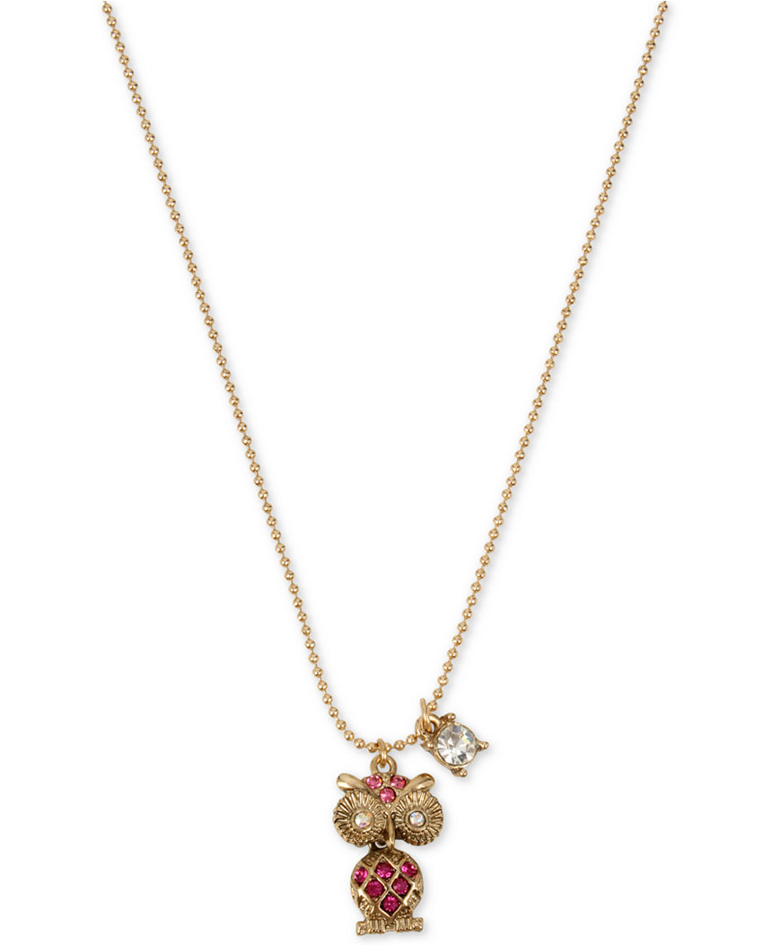 Betsey Johnson Jewelry MINI CRITTERS OWL PENDANT