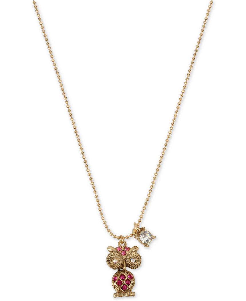 Betsey Johnson - - Betsey Johnson Jewelry MINI CRITTERS OWL PENDANT