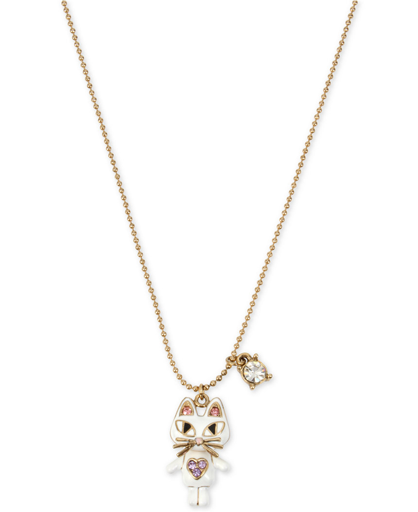 Betsey Johnson Jewelry MINI CRITTERS CAT PENDANT