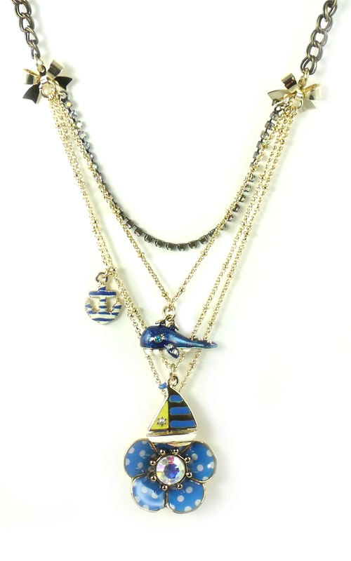 betsey johnson jewelry yacht club flower whale layer