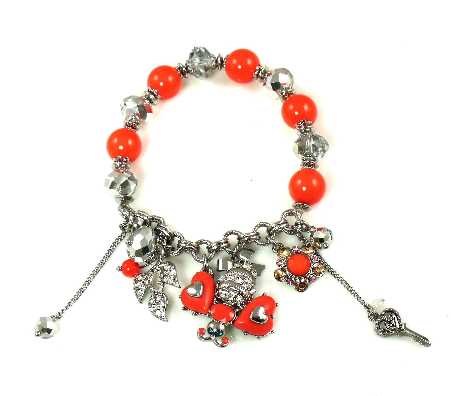 Betsey Johnson Jewelry Iconic Coral Glam Bee Bracelet New 2013
