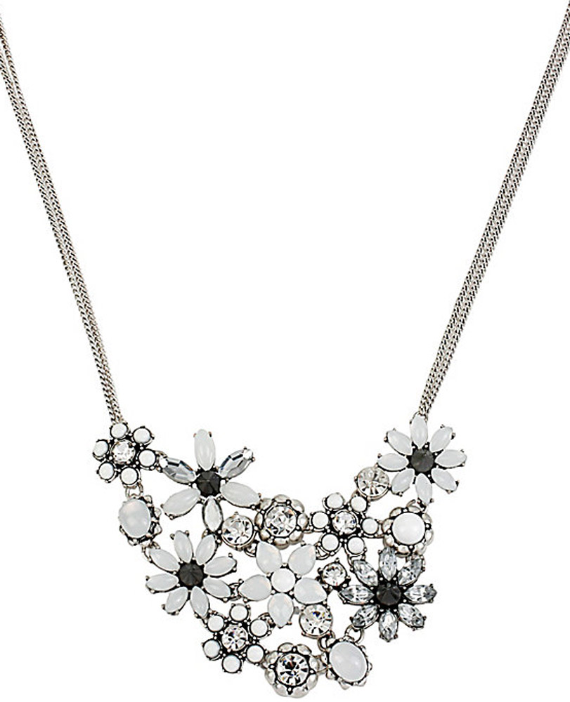 Betsey Johnson Jewelry SOMETHING NEW FLOWER FRONTAL NECKLACE