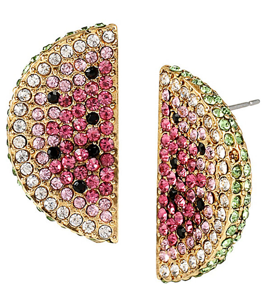 Betsey Johnson Jewelry OCEAN DRIVE WATERMELON EARRINGS