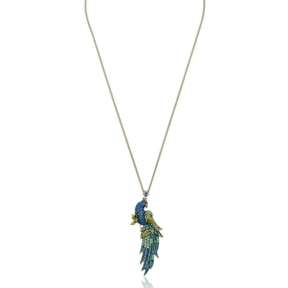 Betsey Johnson Jewelry Keeping The Critters Pave Bird Necklace