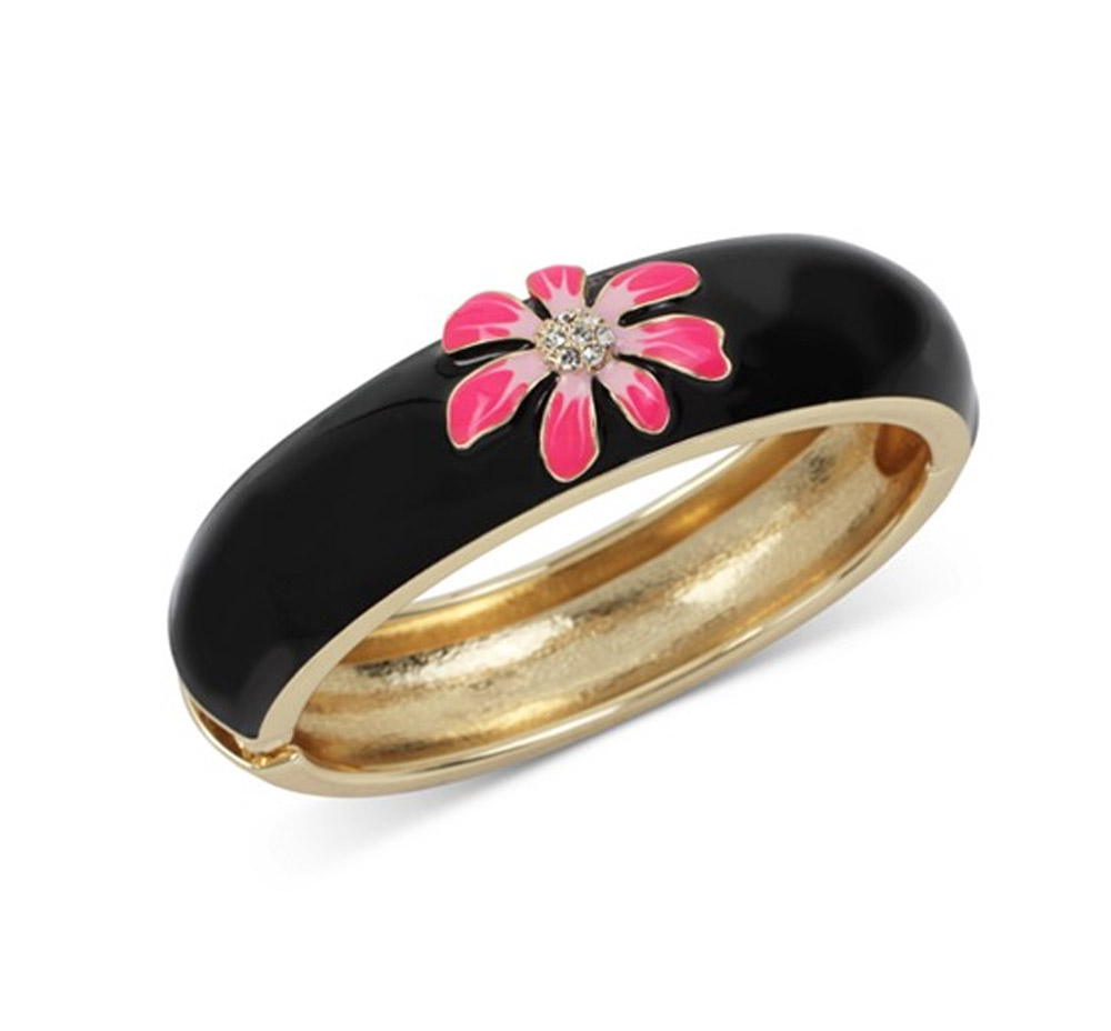 Betsey Johnson Jewelry Memoirs of Betsey Flower Bangle Bracelet