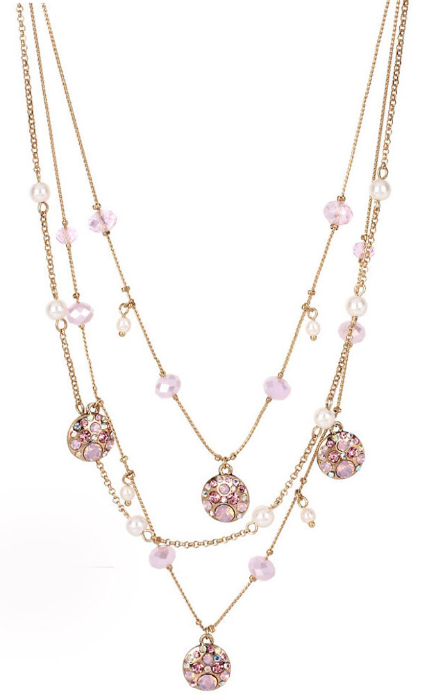 Betsey Johnson Jewelry Memoirs of Betsey Crystal Illusion Necklace