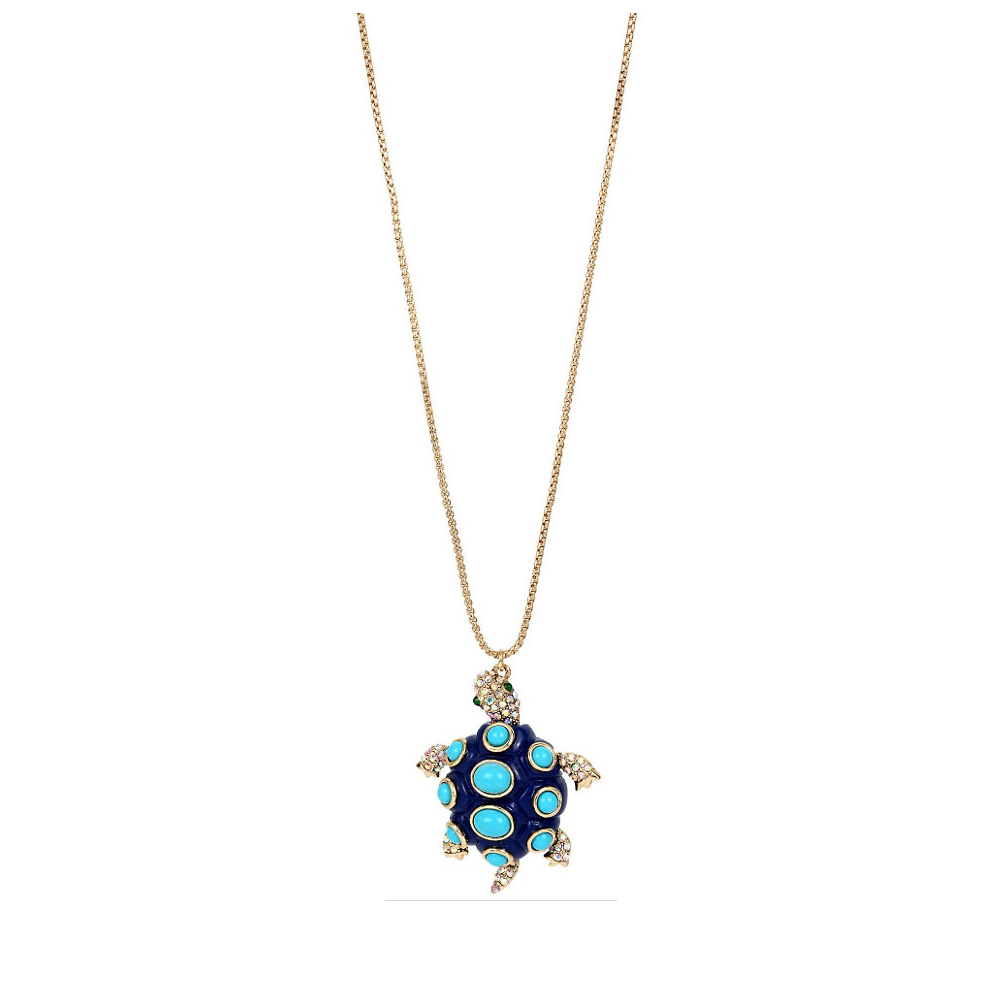 Betsey Johnson Jewelry BETSEY and THE SEA Turtle Pendant Long Necklace