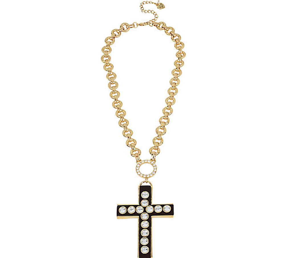 Betsey Johnson Jewelry THROWBACK TO VINTAGE BJ CROSS PENDANT