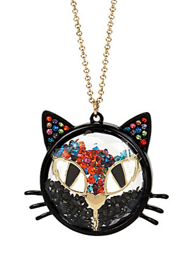 Betsey Johnson Jewelry Halloween Shaky Cat Pendant Necklace