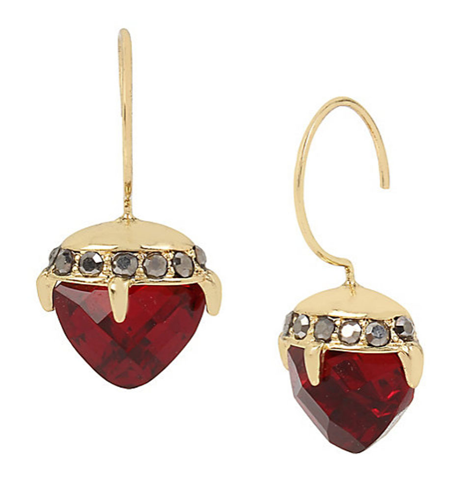 Betsey Johnson Jewelry GARDEN OF EXCESS Ruby Thorn Drop Earrings