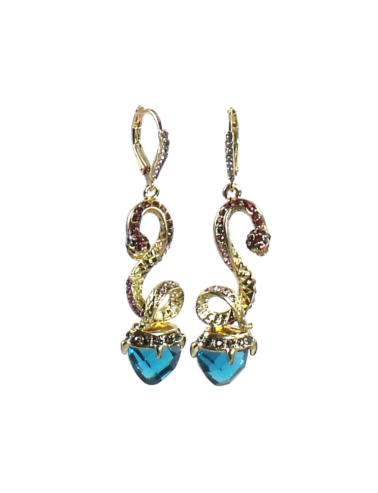 Betsey Johnson Jewelry GARDEN OF EXCESS Linear Snake Earrings