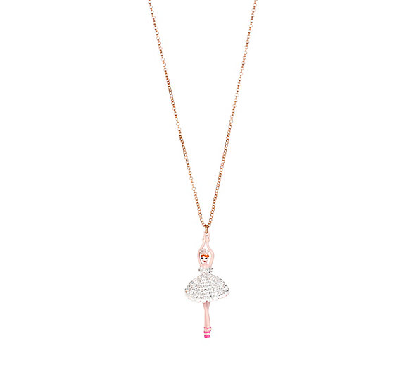 Betsey Johnson Jewelry BALLERINA ROSE DANCER LONG PENDANT