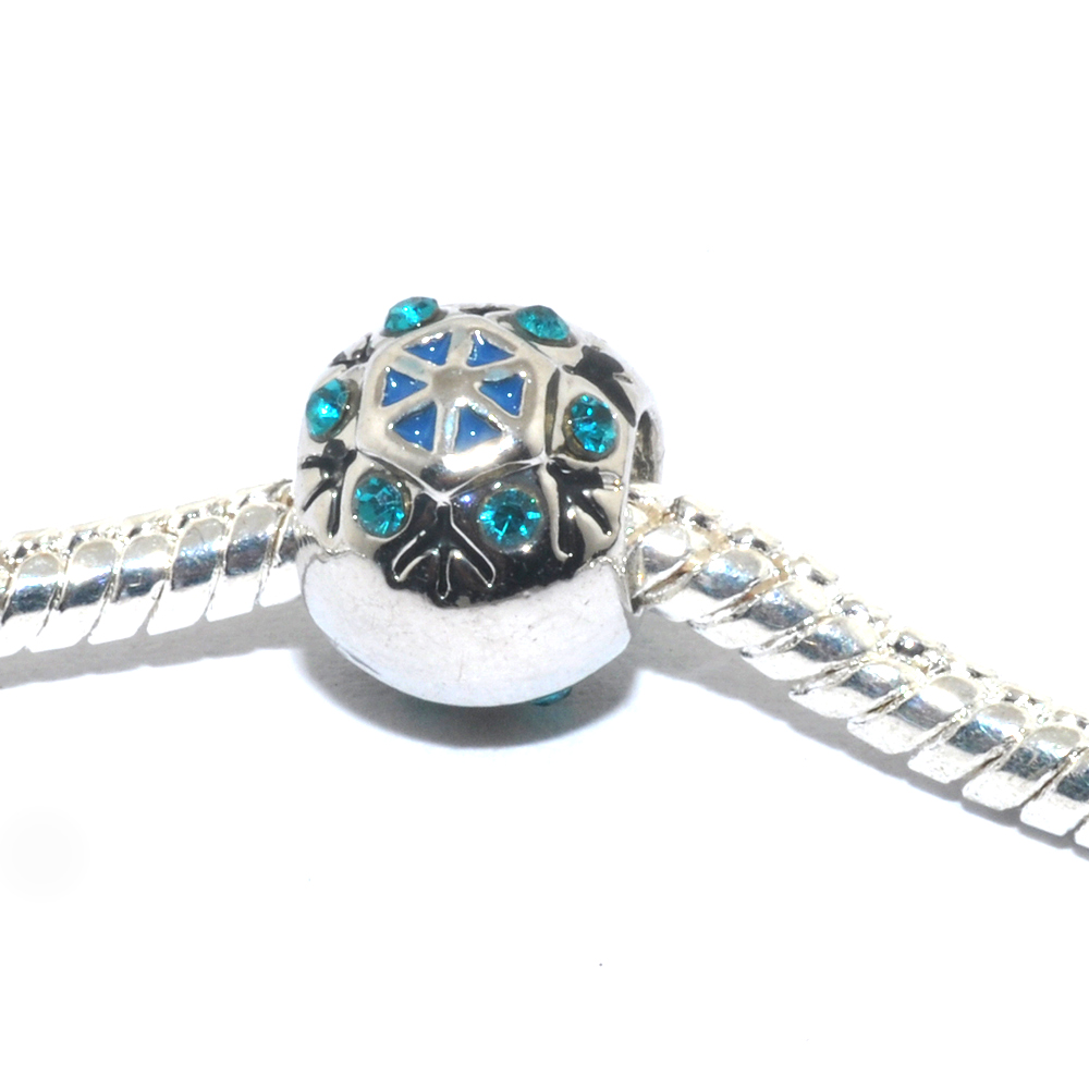 Athena Jewelry Holiday Snowflake Charm Bead Fits European Style