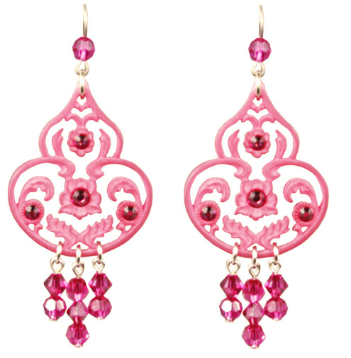 Tarina Tarantino Jewelry Classic Lucite Dangle Earrings Pink