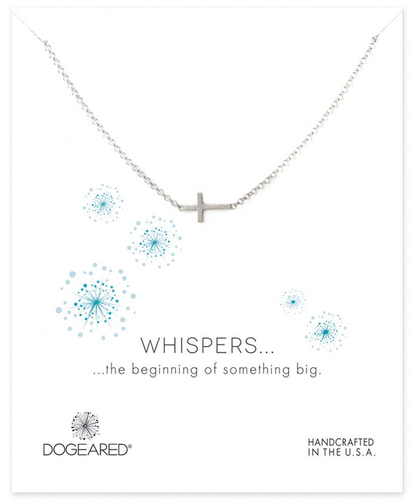 Dogeared Jewelry whispers sideways cross necklace, sterling silv