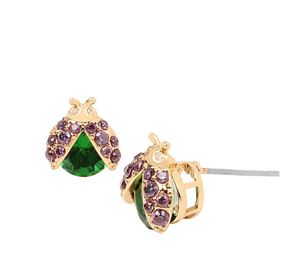 Betsey Johnson Jewelry FALL CRITTERS LADY BUG CZ STUD EARRING