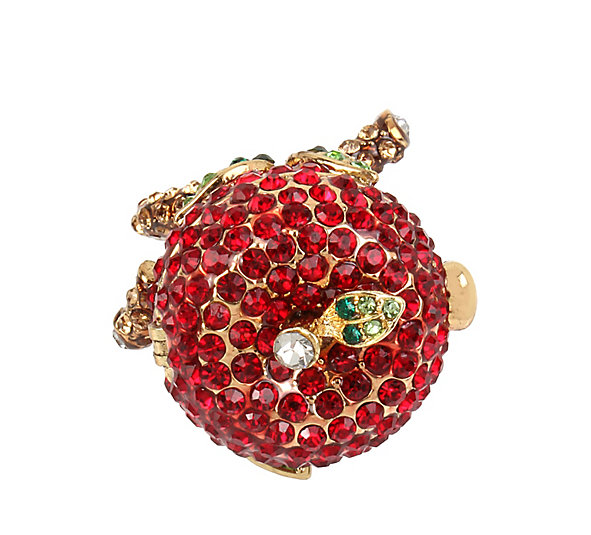 Betsey Johnson Jewelry GARDEN OF EXCESS Keepsake Apple Ring