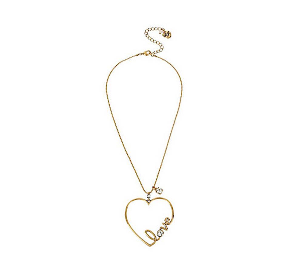 betsey johnson betsey johnson jewelry hearts and arrows love pendant