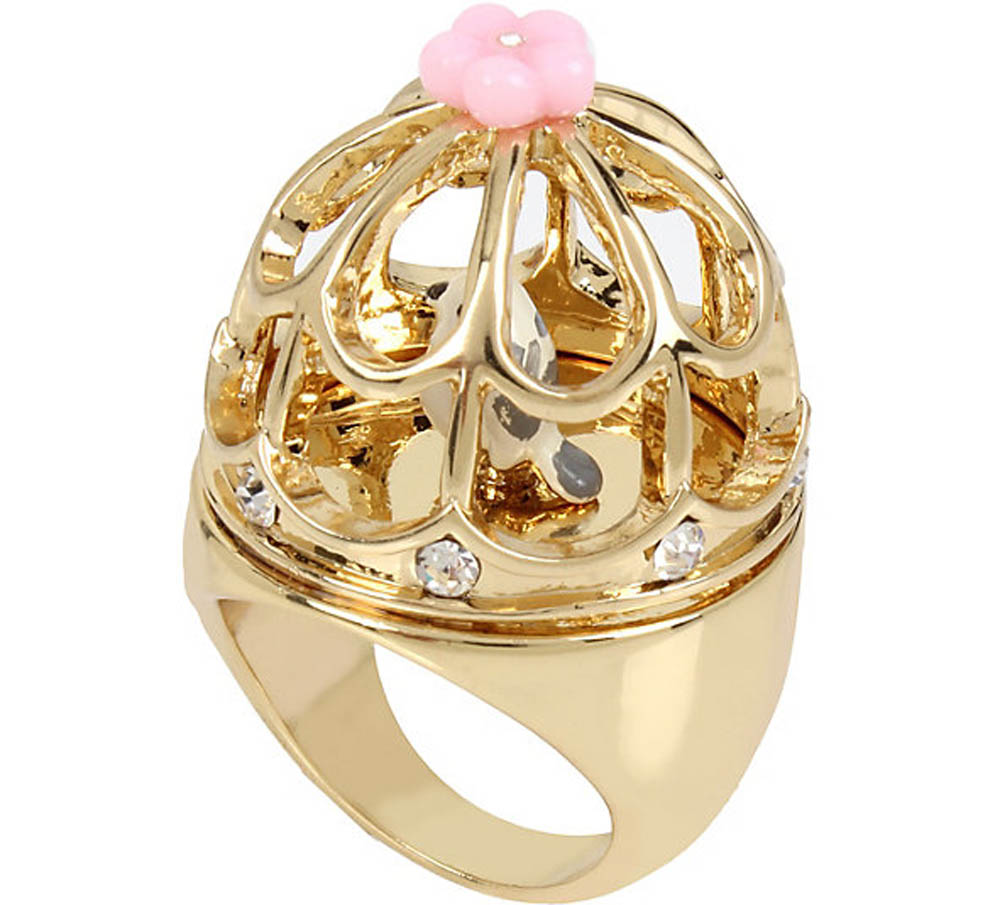 Betsey Johnson Jewelry MARIE ANTOINETTE BIRD CAGE RING
