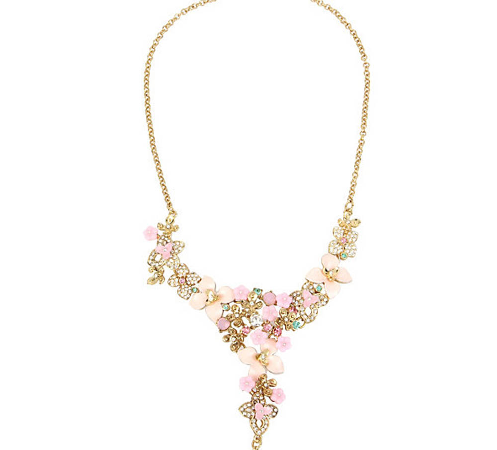 Betsey Johnson Jewelry MARIE ANTOINETTE FLOWER Y NECKLACE