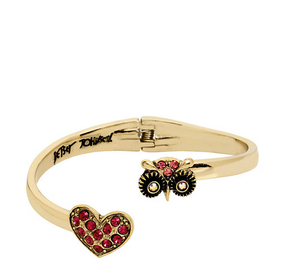 Betsey Johnson Jewelry MINI CRITTERS OWL BANGLE