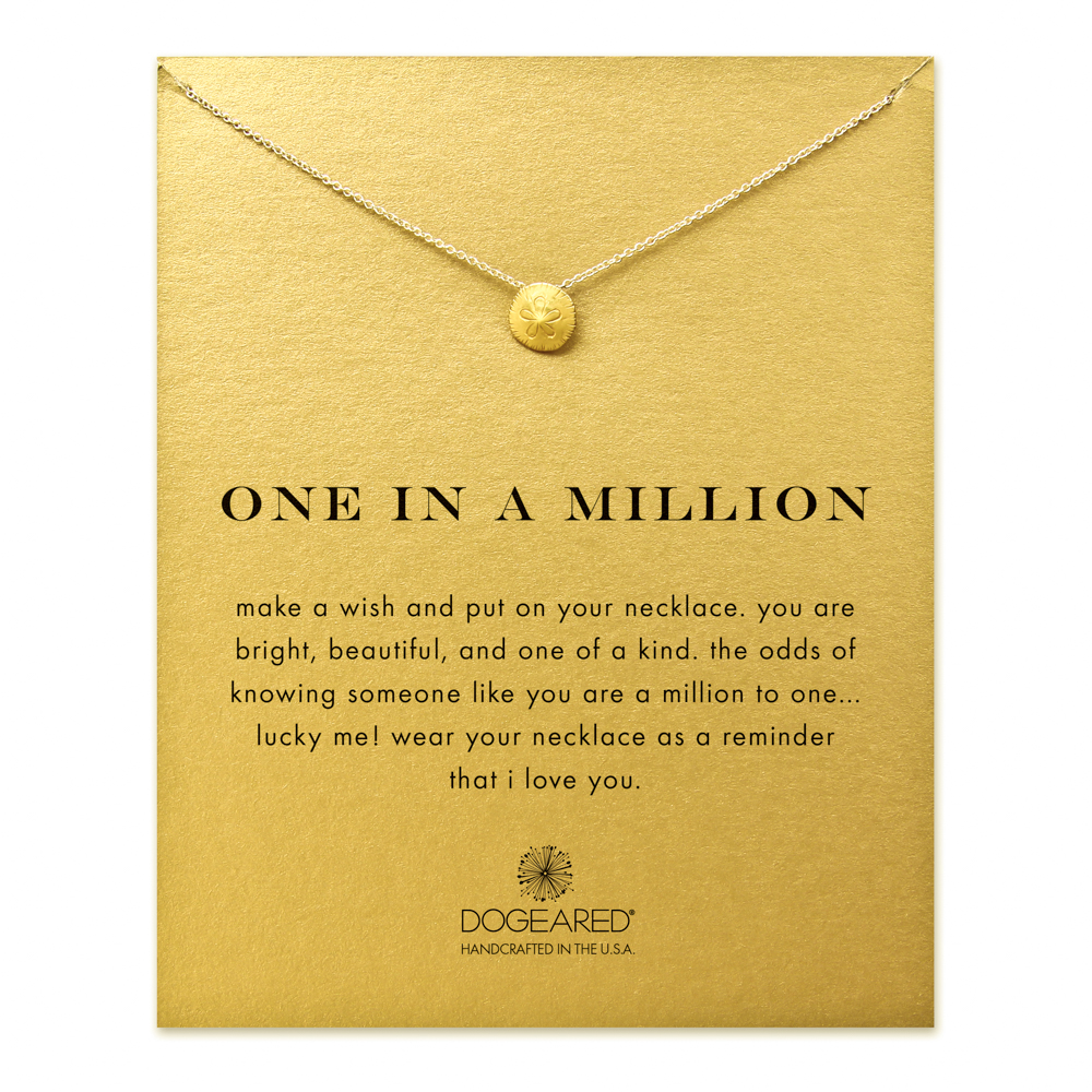 Dogeared Jewelry one in a million sand dollar necklace, gold dipped