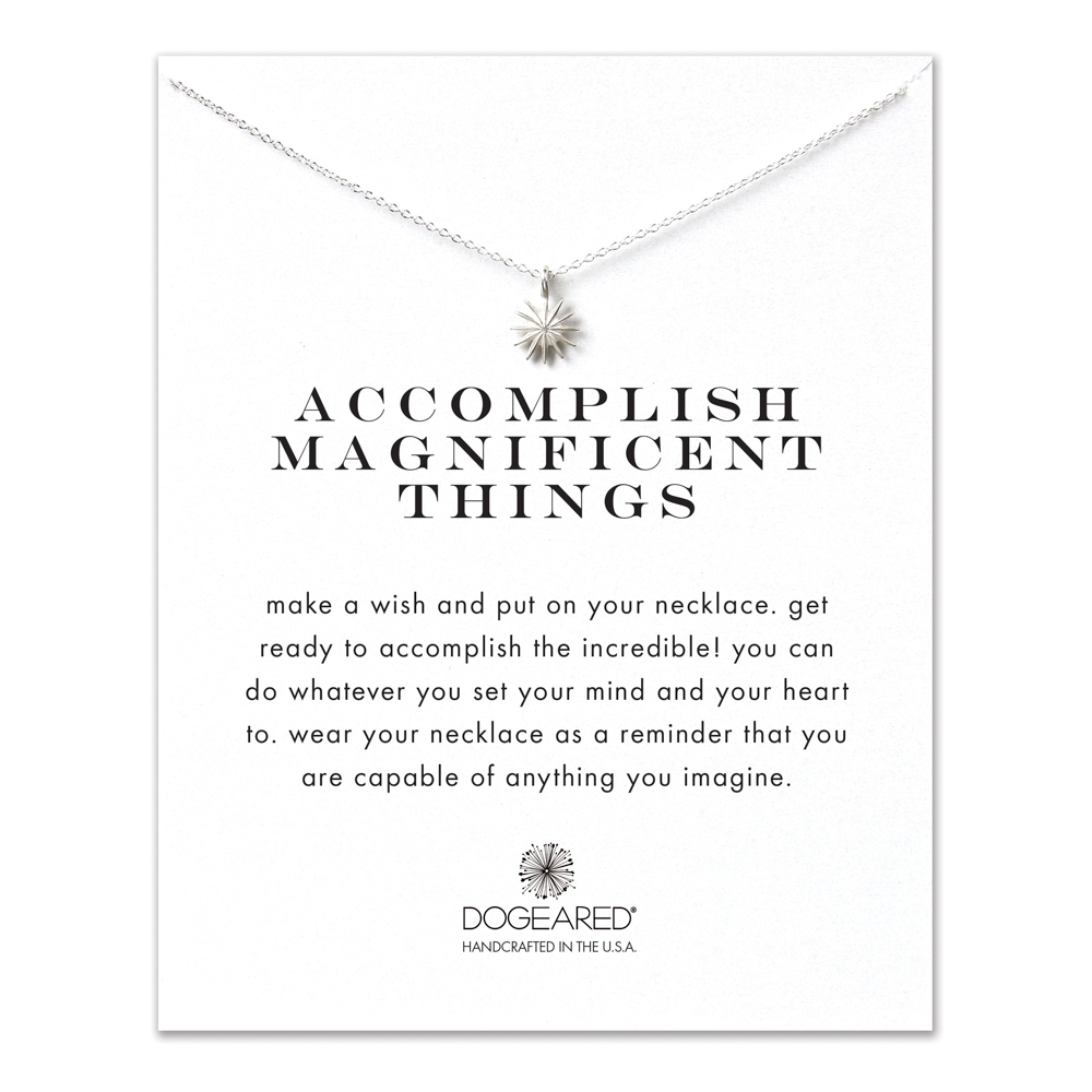 Dogeared Jewelry accomplish magnificent starburst necklace, sterling silver