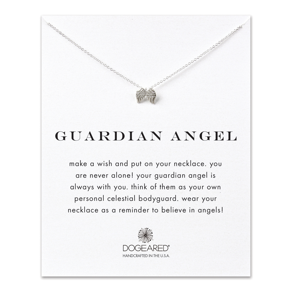 Dogeared Jewelry guardian angel, angel wings necklace, sterling silver