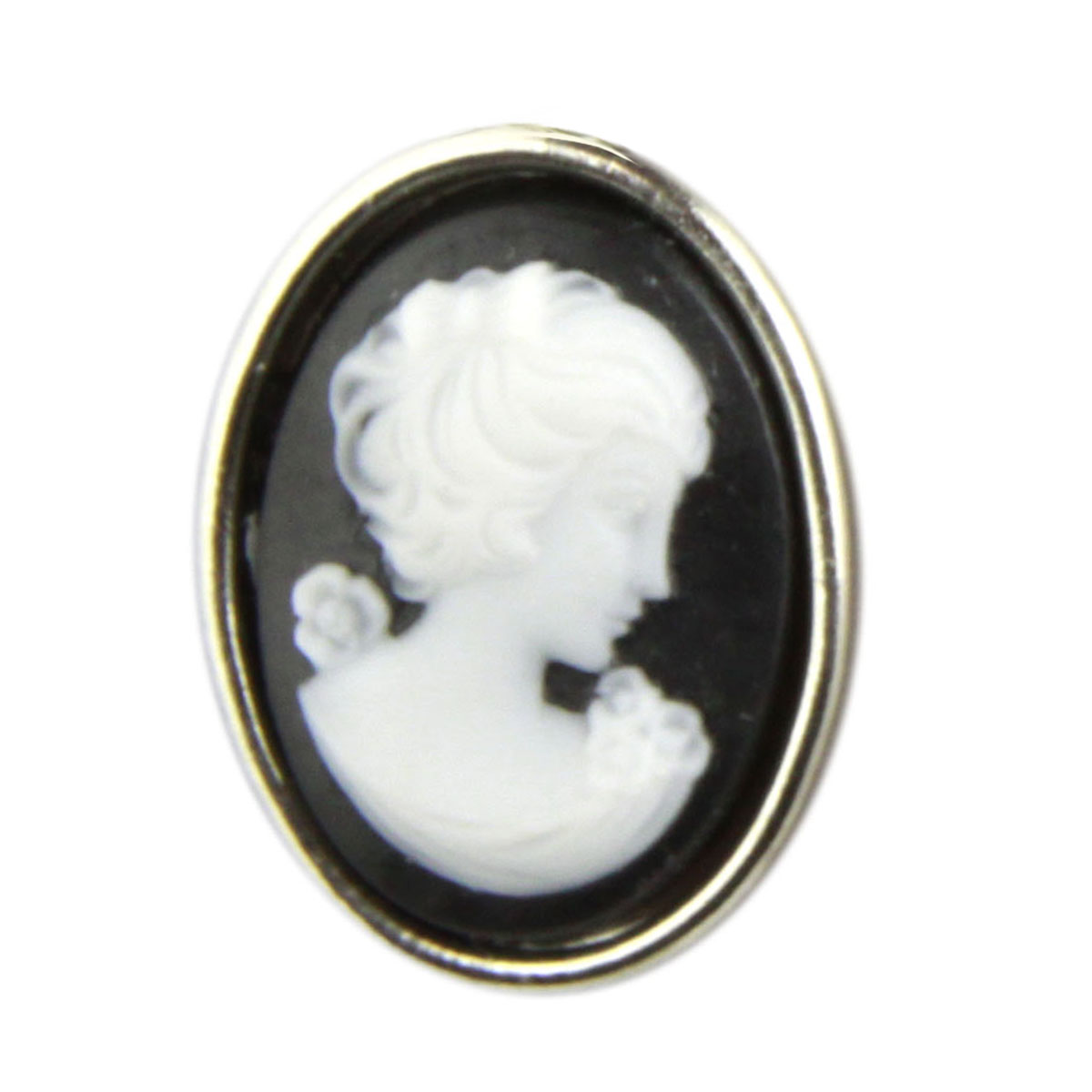 Tarina Tarantino Jewelry Iconic Black Small Cameo Ring
