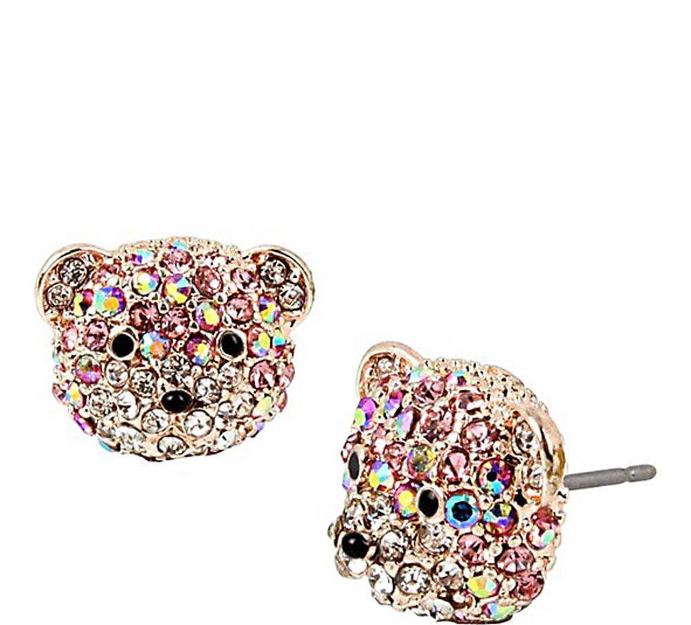 Betsey Johnson Jewelry SWEET SHOP BABY BEAR STUD EARRINGS