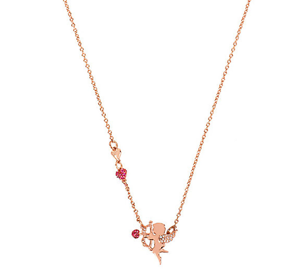 Betsey Johnson Jewelry V-DAY CZ DELICATES Cupid Necklace