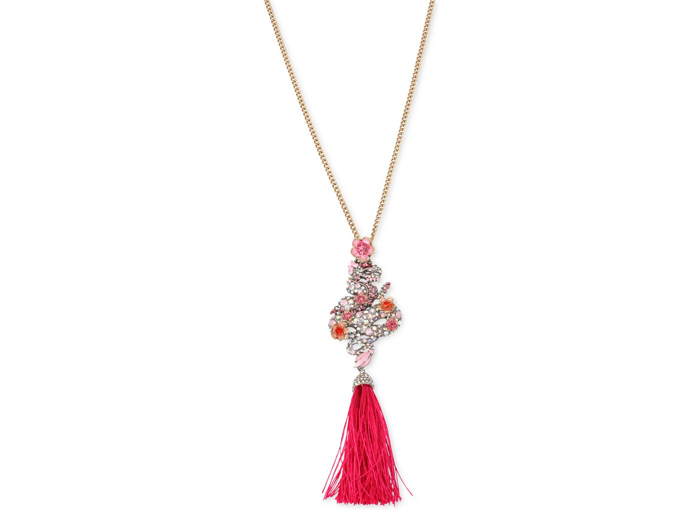 Betsey Johnson Jewelry Memoirs of Betsey Dragon Long Pendant Necklace