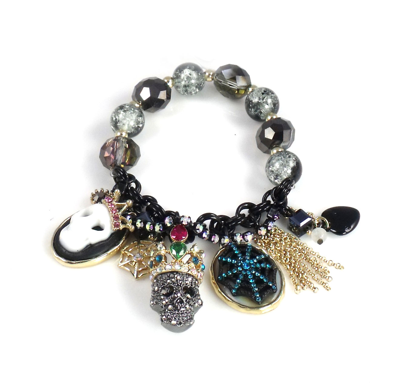 Betsey Johnson Jewelry Halloween Skull Stretch Bracelet