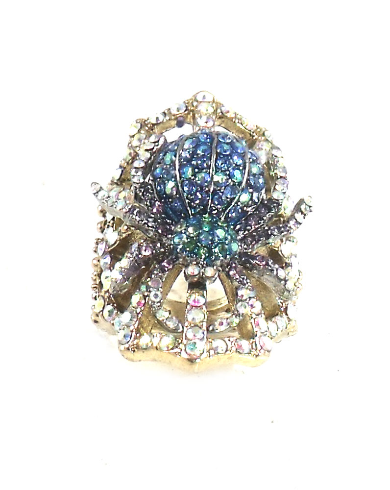 Betsey Johnson Jewelry Spider Luxe Pave Spider Ring