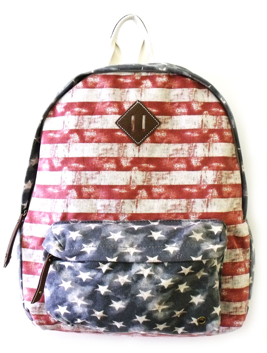 Steve Madden Handbag American Flag Backpack New 2013