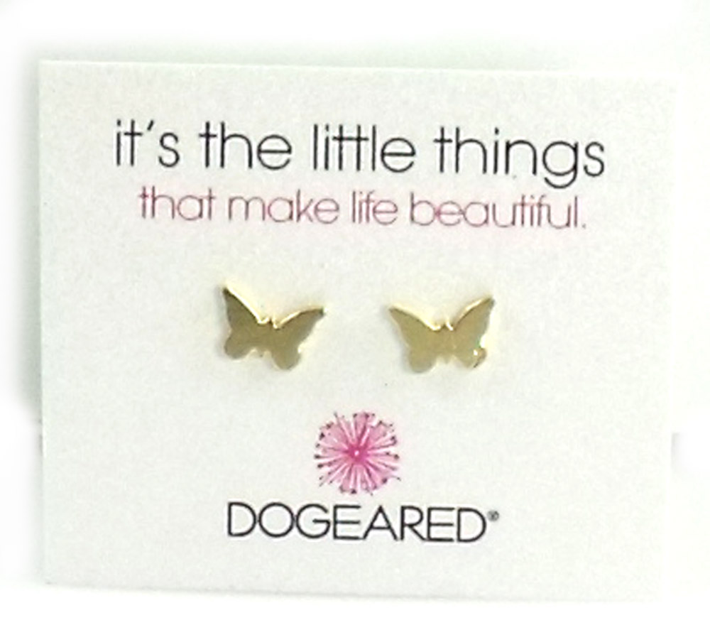 Dogeared Jewelry it's the little things butterfly earrings, gold