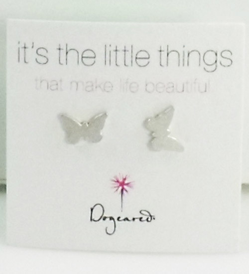 Dogeared Jewelry it's the little things butterfly stud earrings,