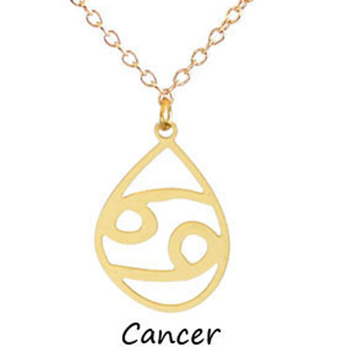 "Kris Nations Jewelry ""Cancer"" Pendant Necklace Gold"