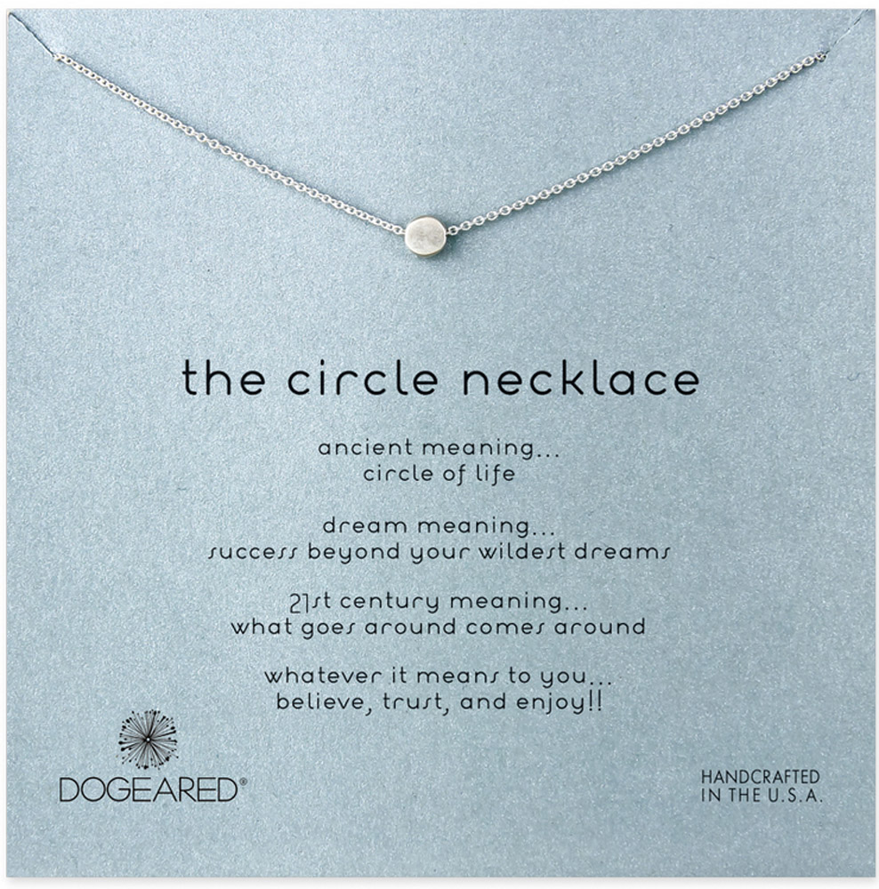 Dogeared dogeared jewelry the circle necklace sterling silver aloadofball Images