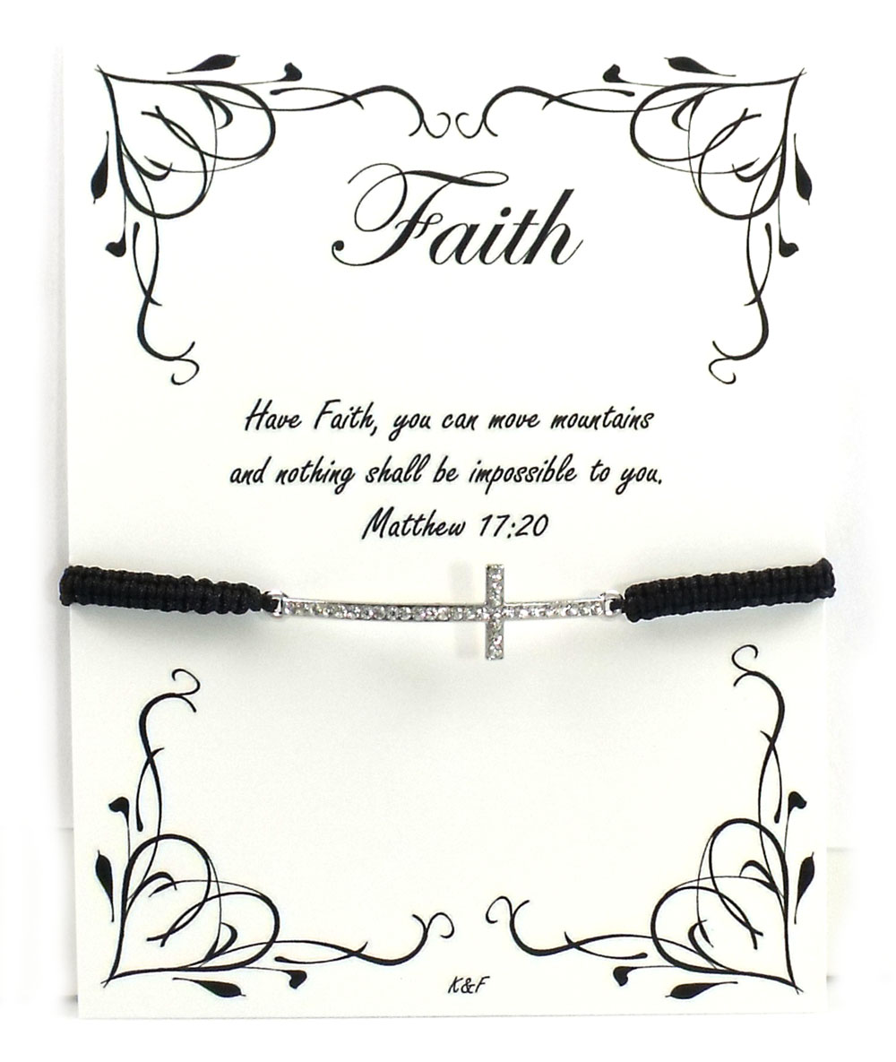 K and F Jewelry the Faith Bracelet