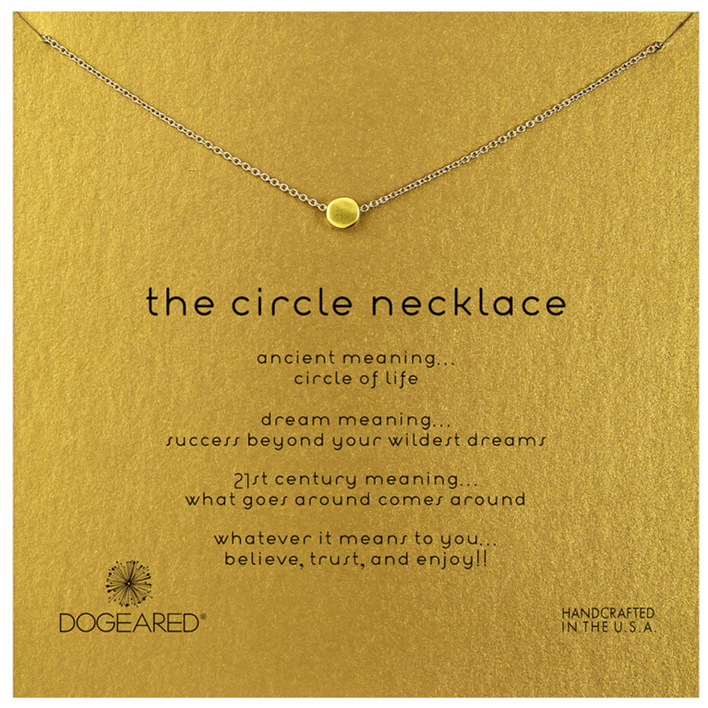 Dogeared Jewelry the circle necklace, gold dipped