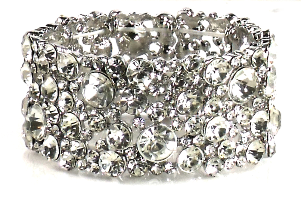 Giada Valentina Large Crystal Stretch Bracelet