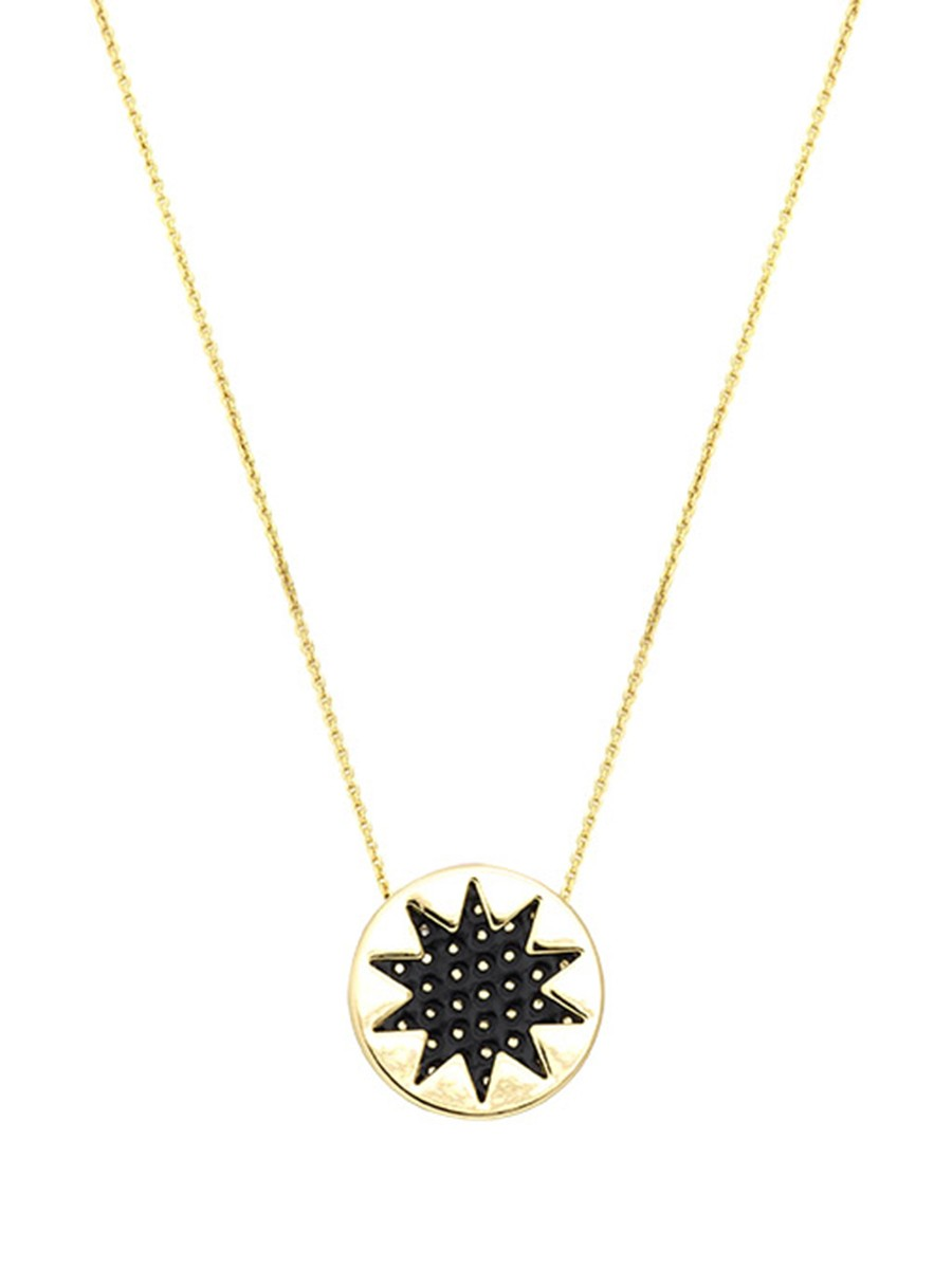 House of Harlow MINI SUNBURST NECKLACE Black