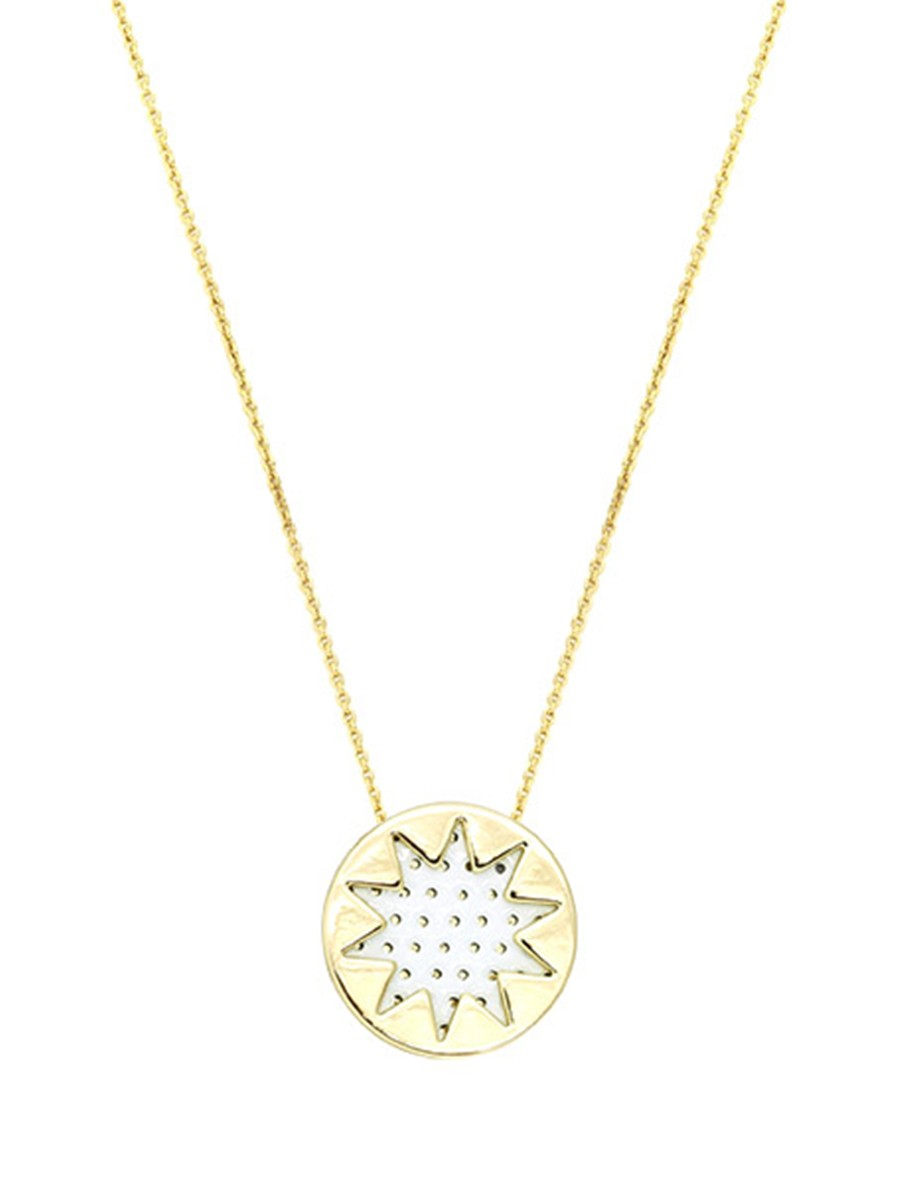 House of Harlow MINI SUNBURST NECKLACE White