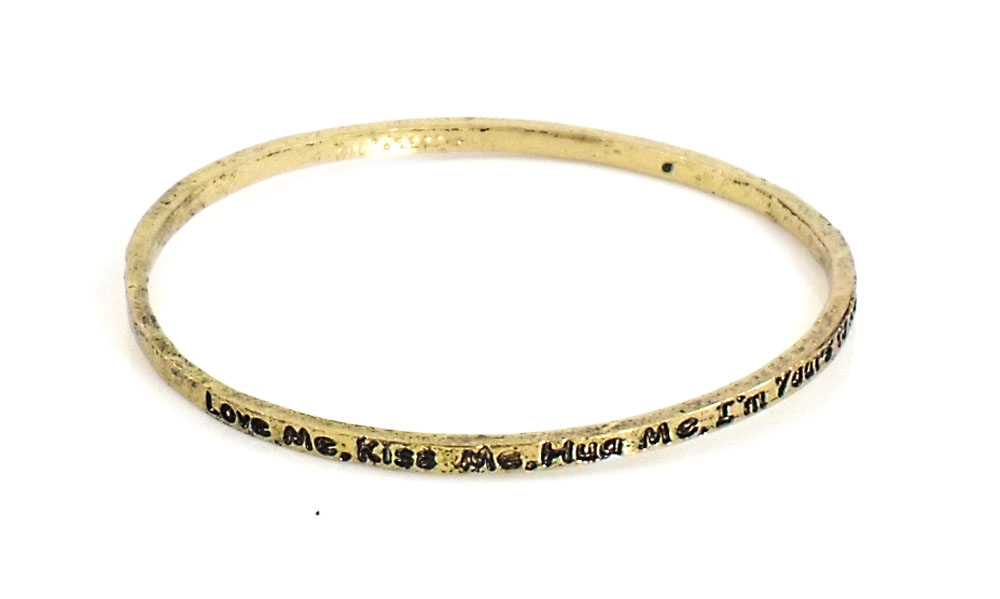 Urban Chic Jewelry Inspire Bangle Bracelets Love Me Kiss Me