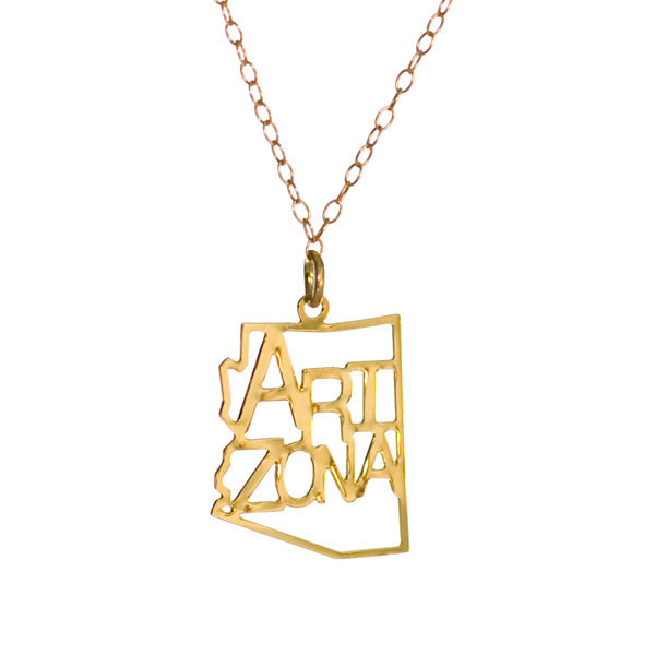 "Kris Nations Jewelry ""Arizona"" Pendant Necklace Gold"