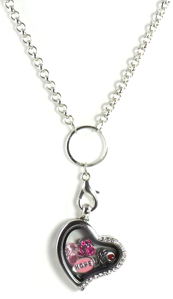 Giada  Jewelry Heart Build A Charm Floating Locket Pendant