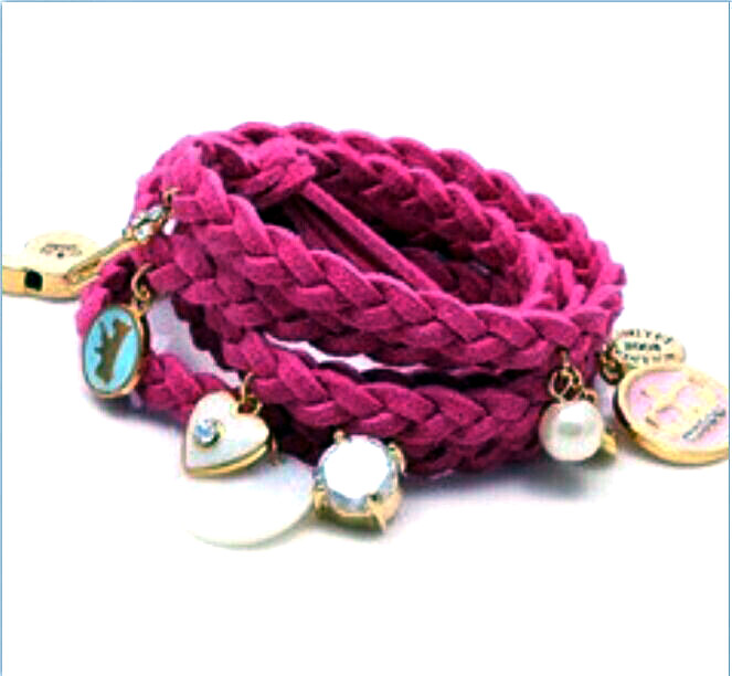 Urban Chic Jewelry Cranberry Suede Long Wrap Charm Bracelet